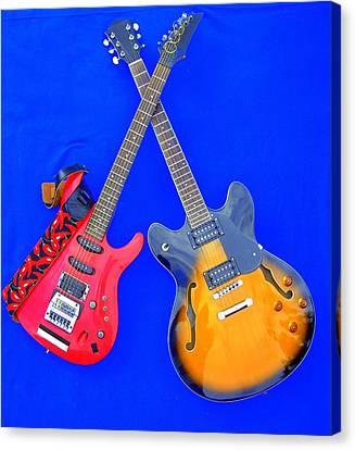Double Heaven - Guitars At Rest Canvas Print