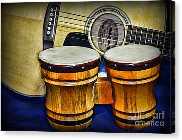 Guitars Bongos And Beatniks Canvas Print