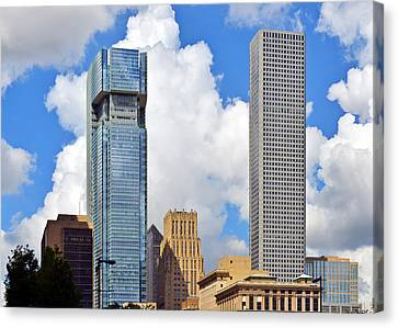 Gulf Building Houston Texas Canvas Print by Christine Till