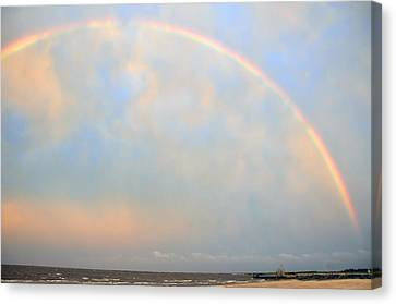 Canvas Print featuring the photograph Gulf Coast Rainbow by Charlotte Schafer