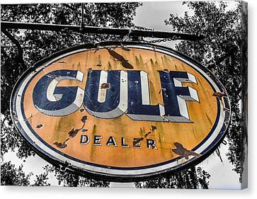 Gulf Dealer Sign Canvas Print by Steven  Taylor