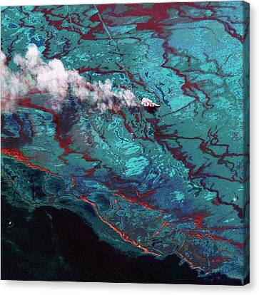 Gulf Of Mexico Oil Spill Canvas Print by Digital Globe