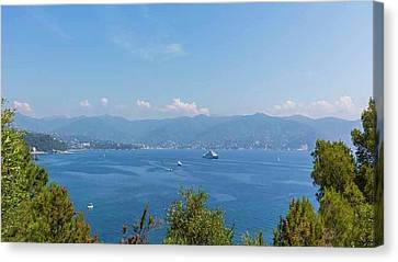 Gulf Of Tigullio, Italy Canvas Print by Ken Welsh