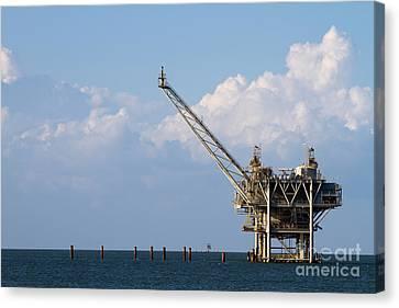 Gulf Oil Rig Canvas Print