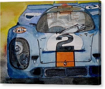 Gulf Porsche Canvas Print by Anna Ruzsan