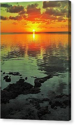 Gulf Sunset Canvas Print by Benjamin Yeager