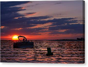 Gulf Sunset Canvas Print by Laura Fasulo