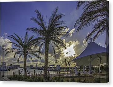 Gulfport Harbor View Canvas Print by Brian Wright