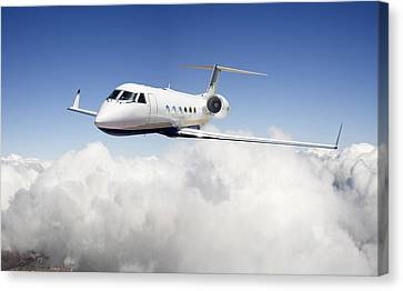 Gulfstream G-450 Canvas Print by Larry McManus