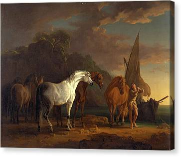 Gulliver Taking His Final Leave Of The Land Canvas Print by Litz Collection