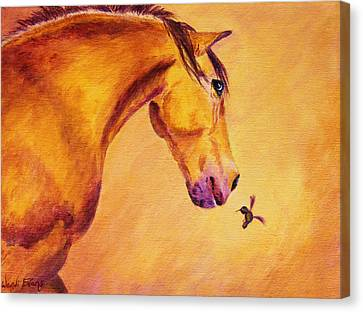Forelock Canvas Print - Gullivers Feathered Friend by Wendi Curtis