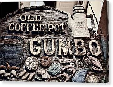Gumbo Coffee Canvas Print