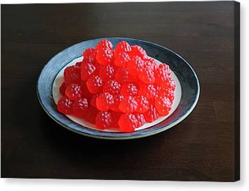 Gummi Raspberries Canvas Print by Scott Angus