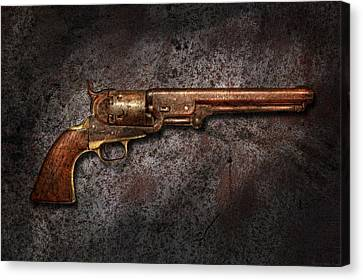Gun - Colt Model 1851 - 36 Caliber Revolver Canvas Print by Mike Savad