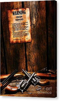 Gun Control Canvas Print by Olivier Le Queinec