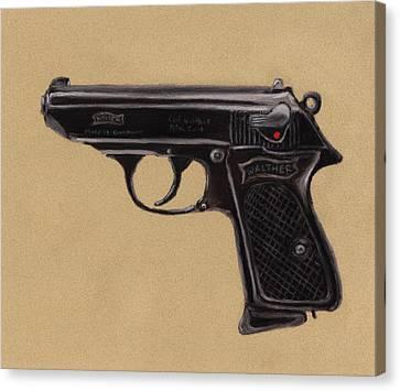 Anastasiya Canvas Print - Gun - Pistol - Walther Ppk by Anastasiya Malakhova