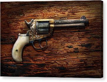 Gun - Police - True Grit Canvas Print by Mike Savad