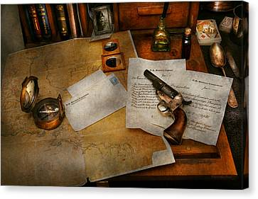 Gun - The Adventure Of Military Life  Canvas Print by Mike Savad
