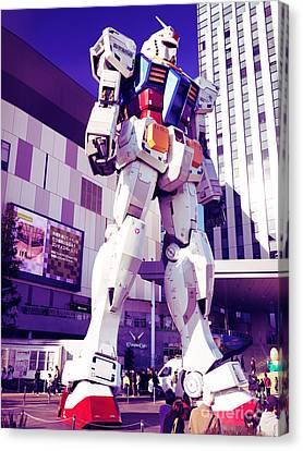Gundam Statue At Diver City Odaiba Tokyo Japan Canvas Print by Oleksiy Maksymenko