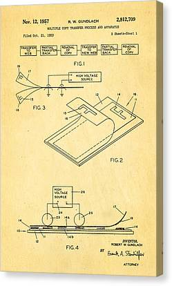 Gundlach Photocopier Patent Art 1957 Canvas Print by Ian Monk