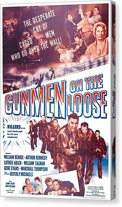 Gunmen On The Loose, Us Poster, William Canvas Print by Everett