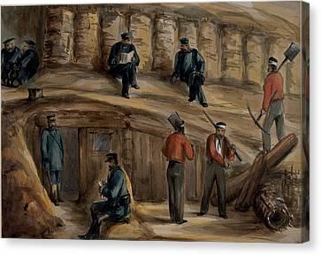 Gunners Of The Royal Regiment Canvas Print by Lt. Henry James Alderson