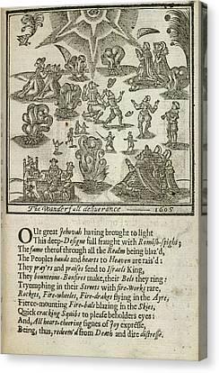 King James Canvas Print - Gunpowder Plot by British Library