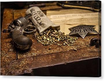 Guns And Gold Canvas Print