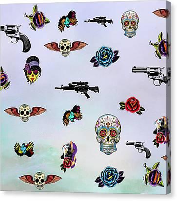 Guns And Roses  Canvas Print by Mark Ashkenazi