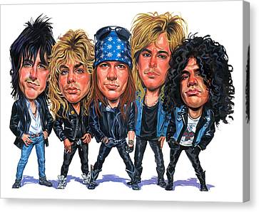 Guns N' Roses Canvas Print by Art