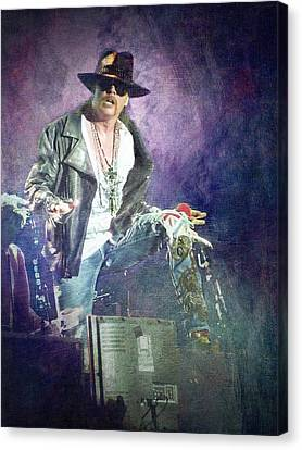 Guns N' Roses Lead Vocalist Axl Rose Canvas Print by Loriental Photography