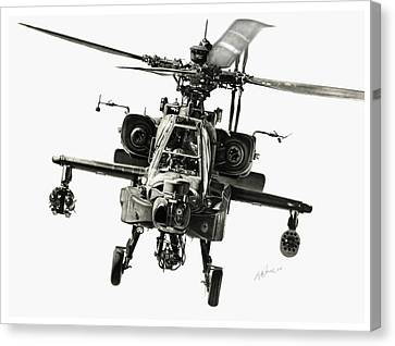 Helicopter Canvas Print - Gunship by Murray Jones