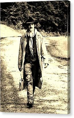 Gunslinger Canvas Print by B Wayne Mullins
