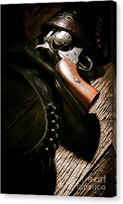 Gunslinger Tool Canvas Print by Olivier Le Queinec
