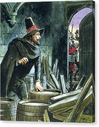 Guy Fawkes, From Peeps Into The Past Canvas Print by Trelleek