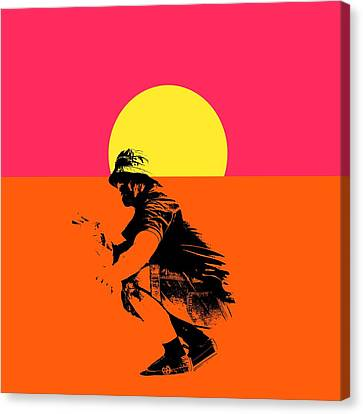 Guy Surfing  Canvas Print