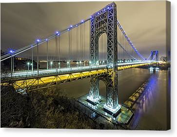 Gwb In Blue Canvas Print by Mike Orso