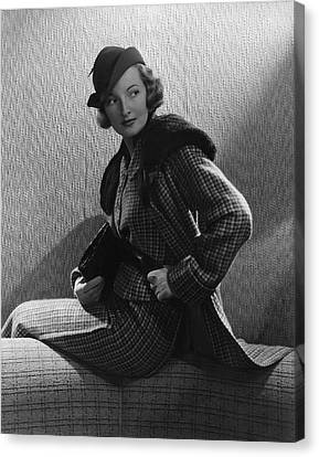 Clutch Bag Canvas Print - Gwili Andre Wearing Yvonne Carette by Edward Steichen