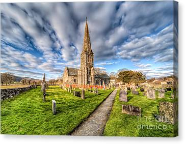 Gwyddelwern Church Canvas Print by Adrian Evans