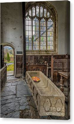 Panel Door Canvas Print - Gwydir Chapel by Adrian Evans