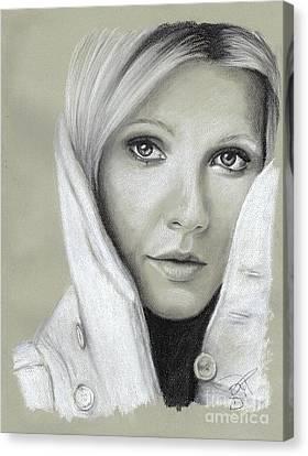 Gwyneth Paltrow Canvas Print by Rosalinda Markle