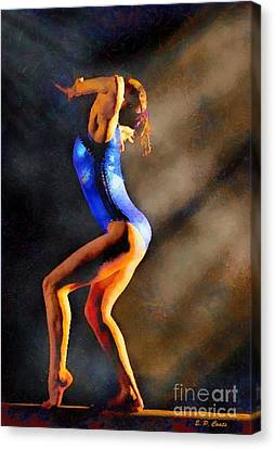 Gymnast In The Light Canvas Print