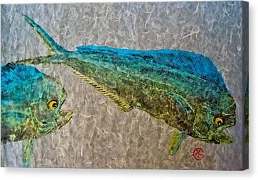 Gyotaku - Mahi Mahi - Dorado - Dolphinfish Canvas Print