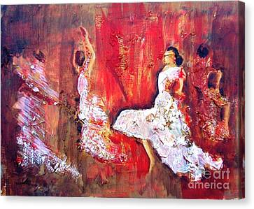 Gypsies In Granada Canvas Print by Jolanta Shiloni