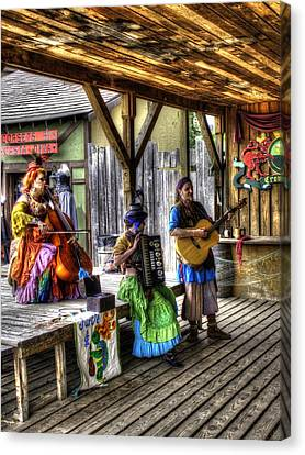 Gypsy Folk Band Crown Inn Canvas Print by John Straton