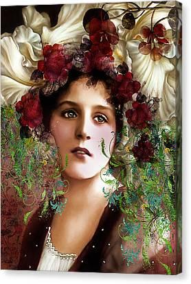 Gypsy Girl Of Autumn Vintage Canvas Print by Georgiana Romanovna