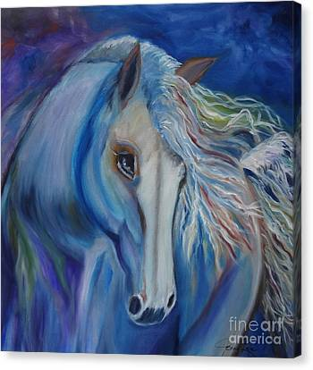 Canvas Print featuring the painting Gypsy Shadow by Jenny Lee