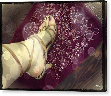 Gypsy Shoes Canvas Print by Absinthe Art By Michelle LeAnn Scott
