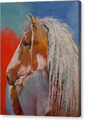 Gypsy Vanner Canvas Print by Michael Creese