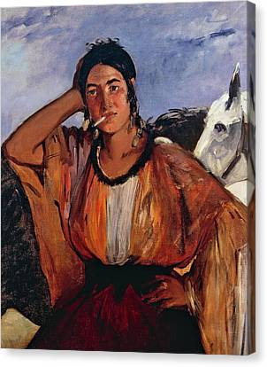 Braids Canvas Print - Gypsy With Cigarette by Edouard Manet